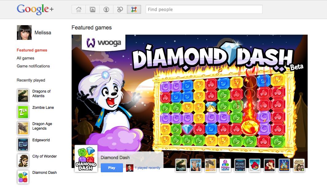 Google+ igranje iger